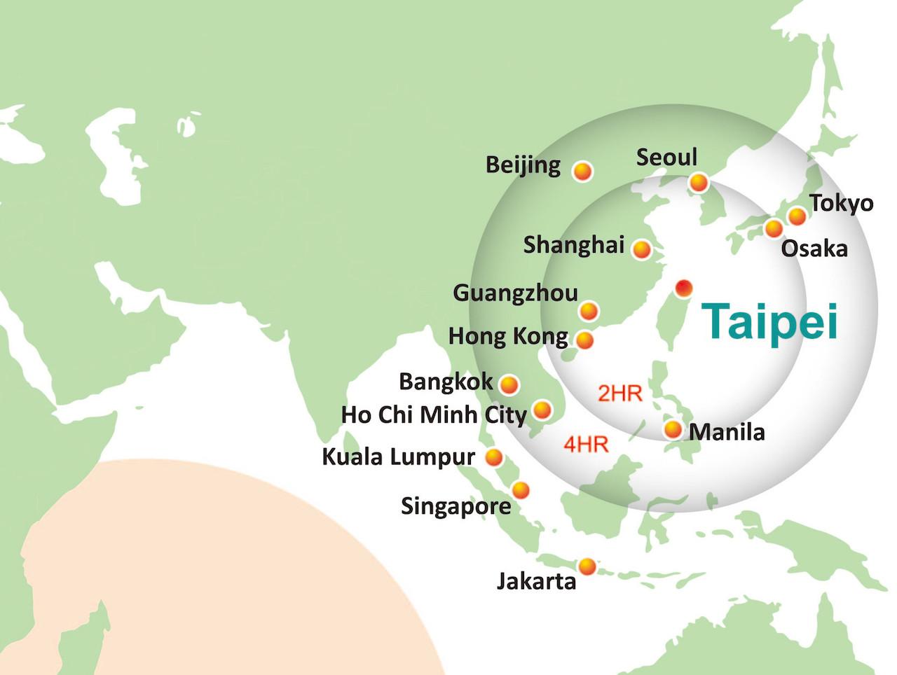 Asia Map Taiwan.Biomed Taiwan